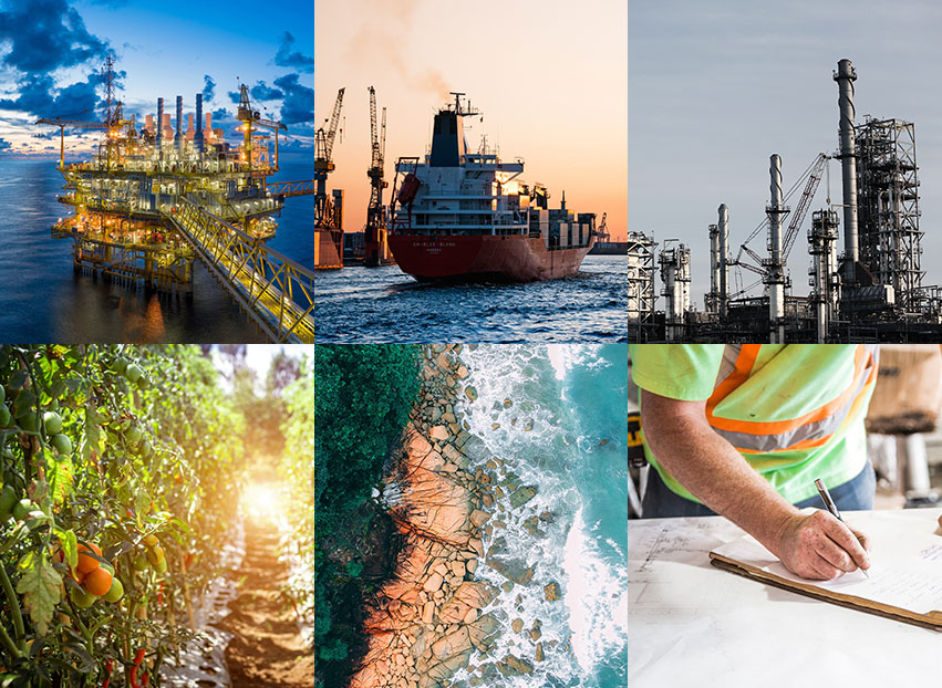 We work with a diverse range of clients across multiple sectors such as: Oil & Gas, Transport, Food & Drink, Process, Marine, Construction
